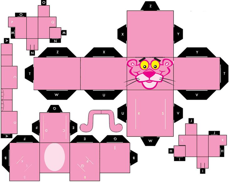 CUBEECRAFT PINK PANTHER by vaniakorn5.deviantart.com on @deviantART