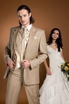Какой подабрать костюм жениху под платье цвета шампанского