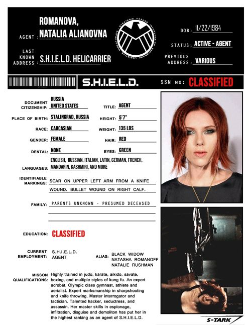 Se filtran archivos secretos de S.H.I.E.L.D. - portal Ñoño