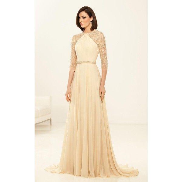 Eleni Elias M156 Wedding Guest Dress Long High Neckline Mid Length 2100 BRL