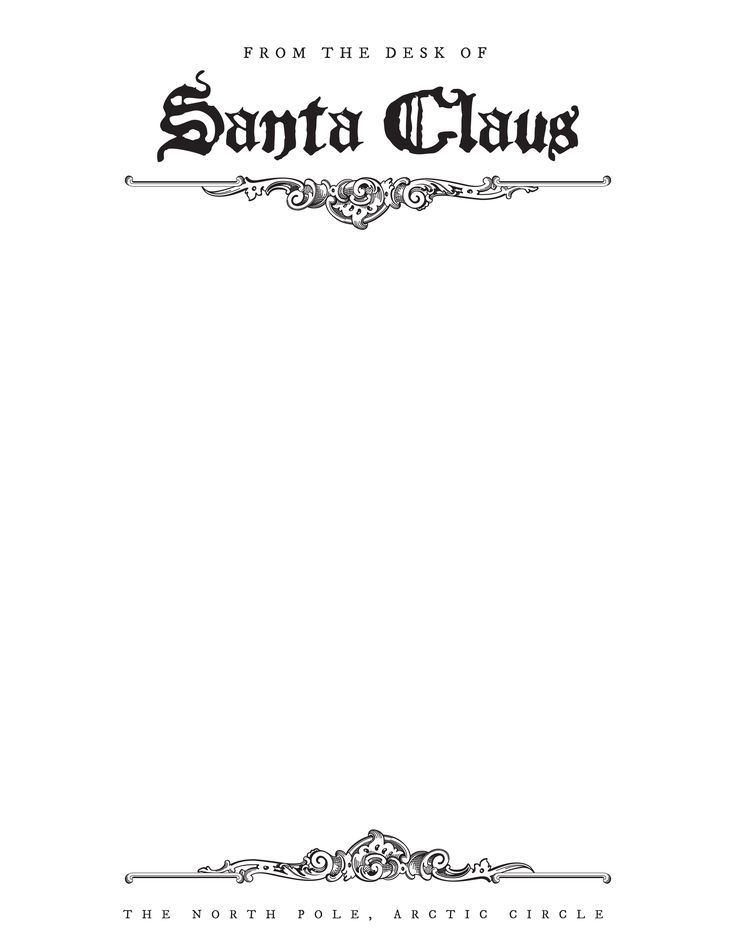 Free Letter From Santa Stationary Template