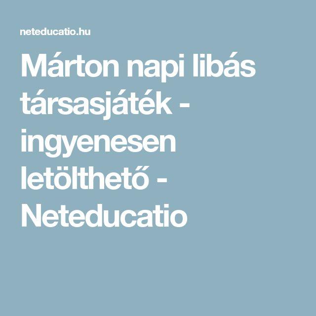 Márton napi libás társasjáték - ingyenesen letölthető - Neteducatio