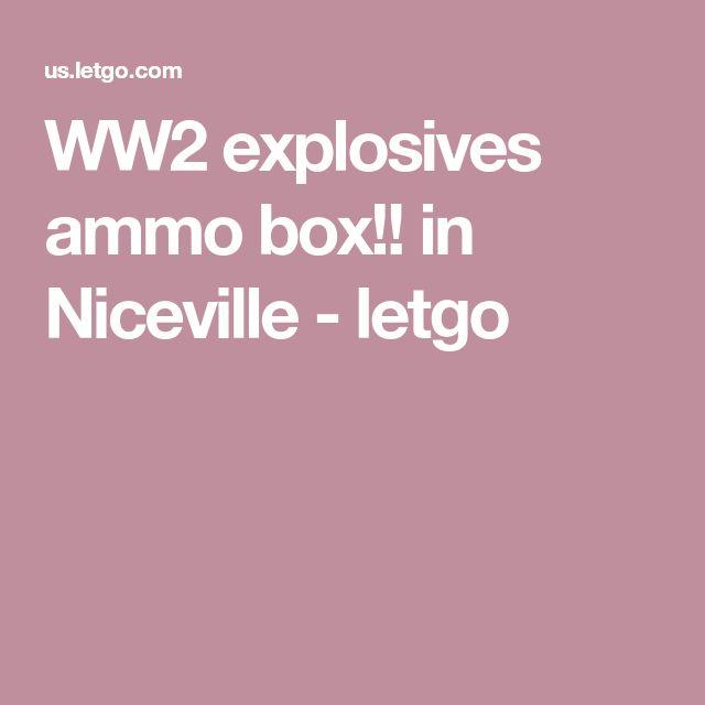 WW2 explosives ammo box!! in Niceville - letgo
