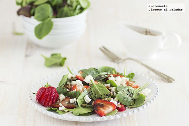 Ensalada de brotes de espinaca y fresas. receta con fotos del paso a paso y sugerencias de presentación. Trucos y consejos de elaboración. Receta...