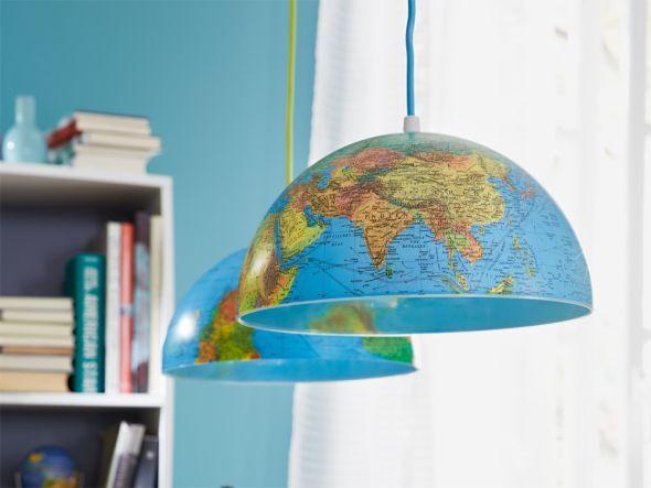 DIY Globus-Leuchte für alle Weltenbummler