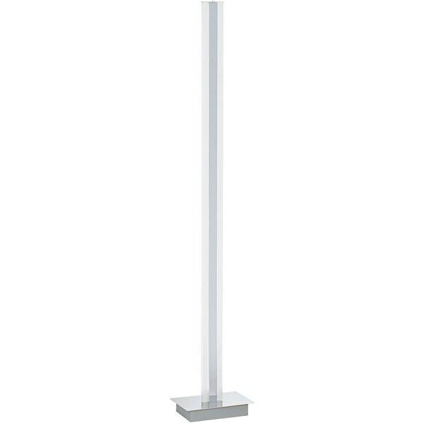 possini euro design possini euro pierce chrome led tower floor lamp 250 liked on polyvore featuring home lighting floor lamps reading lights white