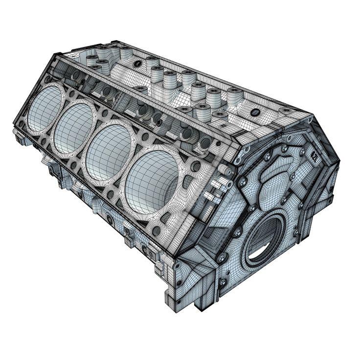 V8 Engine Good Or Bad: Engine Parts V8 Engine Block 3D Model