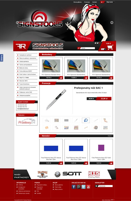 Projekt i realizacja sklepu online sigstools.pl #website #designs #layout #ecommerce #online