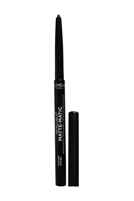 All The Raddest Beauty Products You Can Score At Walmart (Yes, THAT Walmart!) #refinery29  http://www.refinery29.com/walmart-makeup#slide-26  Why not continue the matte trend on your eyes? This eyeliner goes on smooth, has a shine-free finish, and will last all night.L'Oréal Infallible Matte-Matic Mechanical Eye Liner, $7.97, available at Walmart. ...