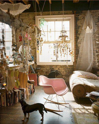 romantische boheemse woonkamer