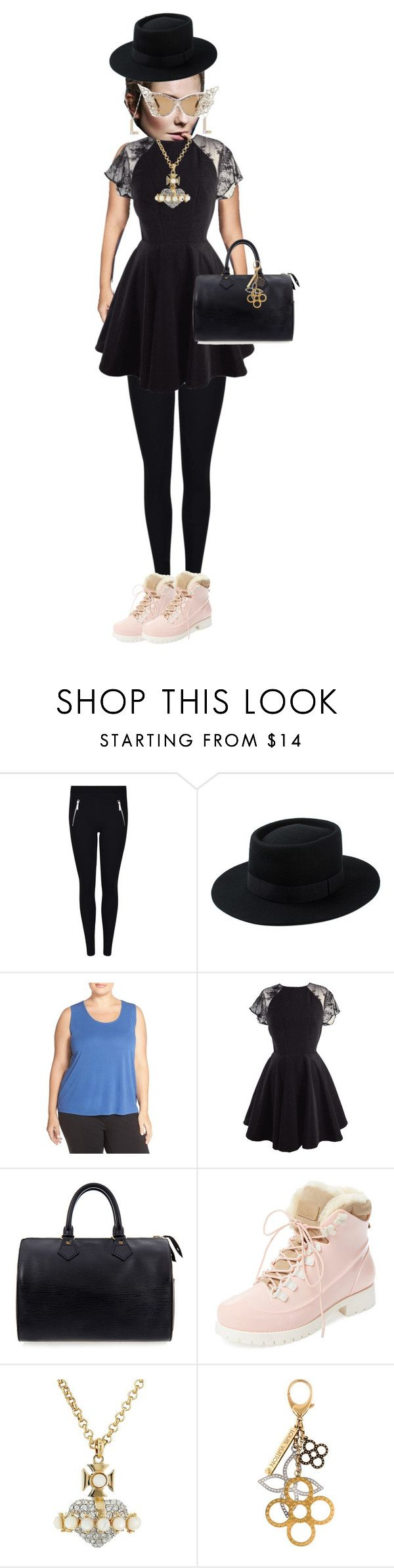 """a full set"" by aiseosab on Polyvore featuring A-Morir by Kerin Rose, Eileen Fisher, Louis Vuitton, Australia Luxe Collective, Vivienne Westwood and plus size clothing"