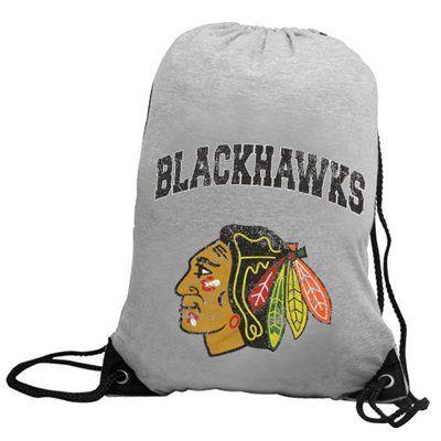 Chicago Blackhawks Practice Backsack - Ash