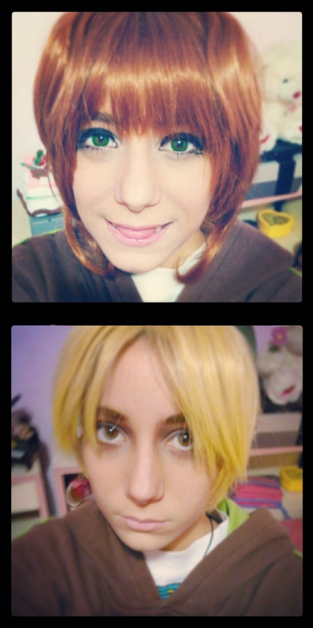 Me like a boy and a girl make up test First one sakura kinomoto Second one young link from ocarina