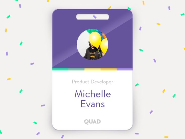 Employee Badge by David Wärnberg for QUAD Lab