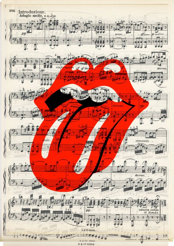 Forty Licks Rolling Stones Music Print vintage by WordsCouncil