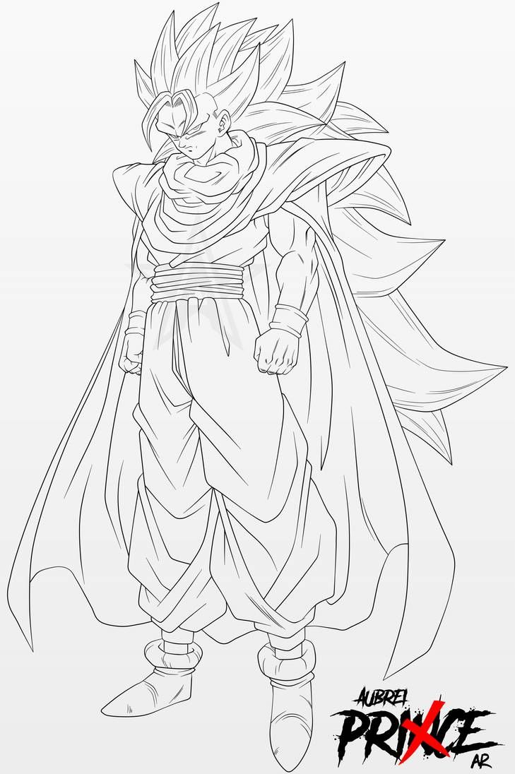 Super Saiyan 3 Gohan Line Art By Aubreiprince On Deviantart Dragon Ball Super Artwork Dragon Ball Artwork Dragon Ball Art