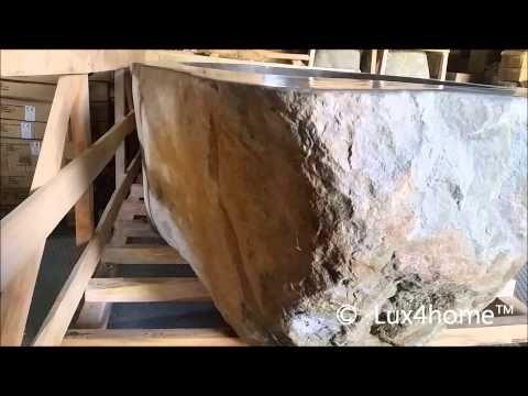 Film o wannie z kamienia wykonanej przez Lux4home™. Zobacz więcej naturalnych produktów...