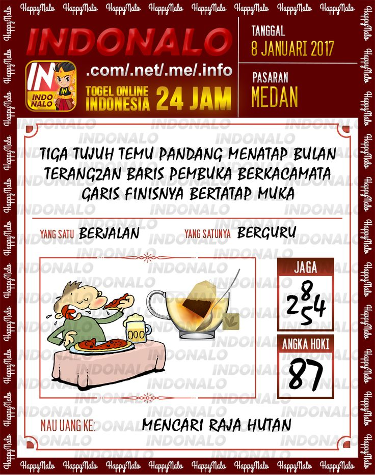 Kode Jaga 4D Togel Wap Online Live Draw 4D Indonalo Medan 8 Januari 2017