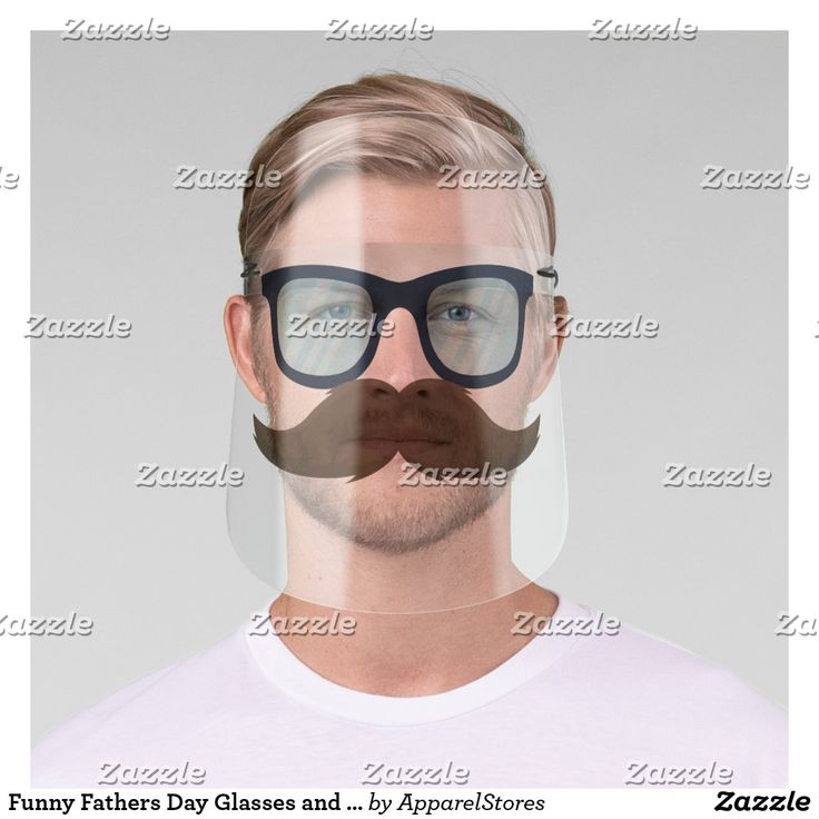 Funny fathers day glasses and mustache face shield in 2020