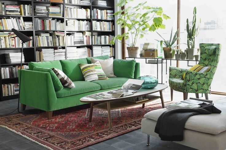 Ikea stockholm velour vert home sweet home honey for Canape stockholm ikea cuir