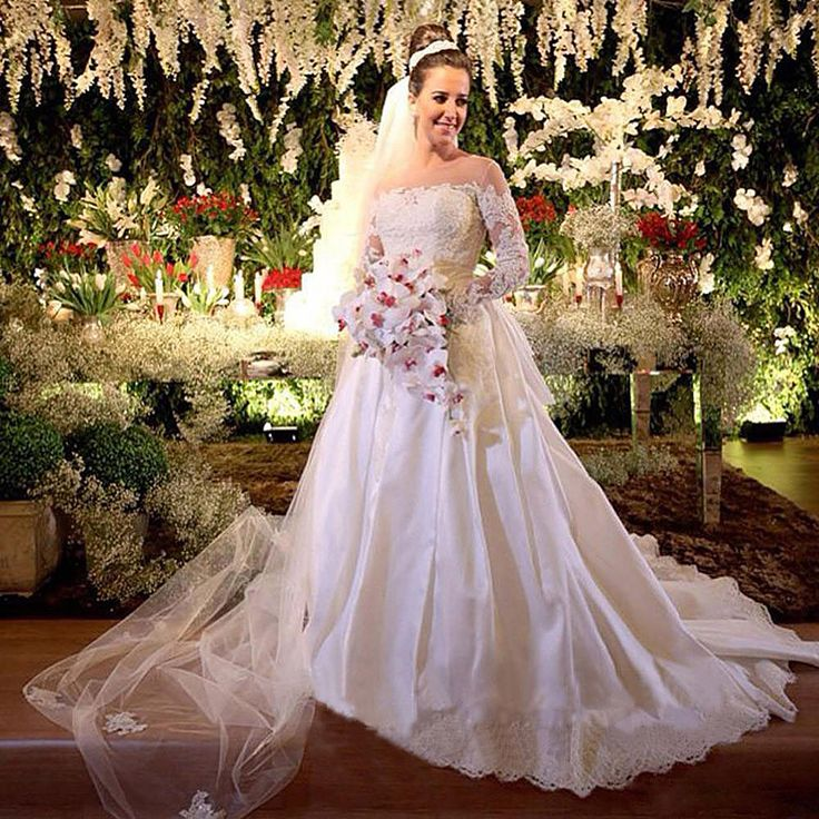 ==> [Free Shipping] Buy Best Sheer Boat Lace Sleeves Wedding Dress 2016 A Line with Pearls Button Satin Bridal Dresses Online Shop Robe De Mairee Online with LOWEST Price | 32260943831