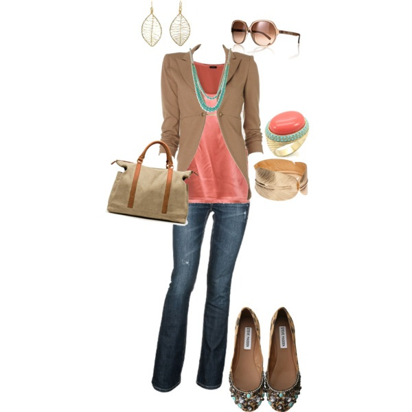 Cute: Shoes, Colors Combos, Casual Friday, Style, Clothing, Fall Outfits, Blazers, Currently, Flats