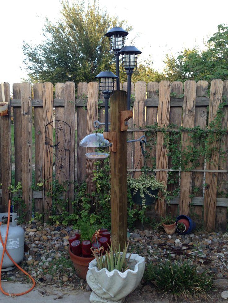 Cool Diy Solar Lamp Post Gardening Ideas Pinterest