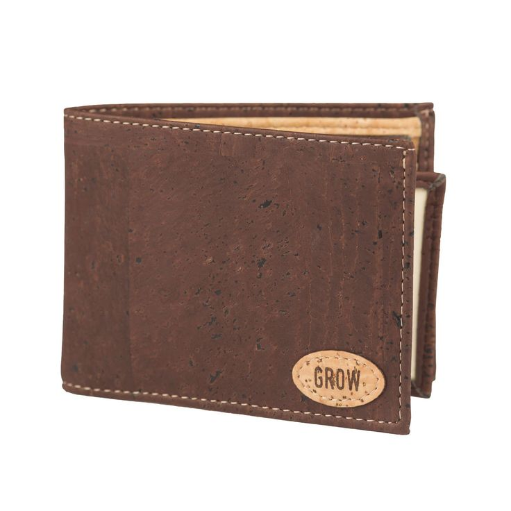 Mens Wallet Brown Cork Wallet, FREE SHIPPING, Vegan Wallet, Eco Wallet, Gift for Him, Green Products, Kork by GrowFromNature on Etsy