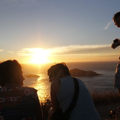Enjoy the sunset at the Books Rehab Hostel in Arraial do Cabo, Brazil