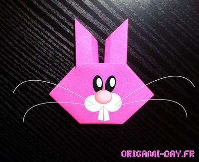Lapin origami facile
