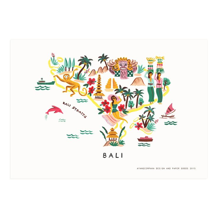 Bali Map Print | Ayang Cempaka
