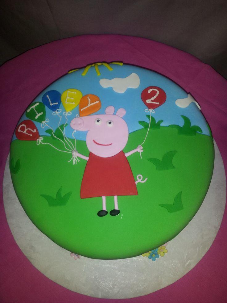 Pepa pig cake...too cute