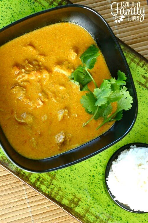 This Chicken Coconut Korma is a favorite at our house! If you have never attempted Indian food, this is a good one to start with!