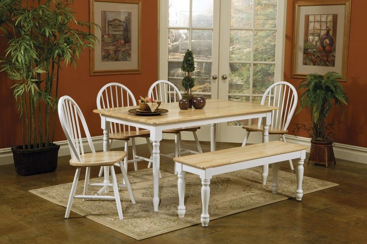 Kitchen Table And Chairs White And Wood