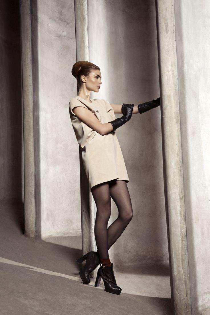 Paula Reindeer Leather Dress