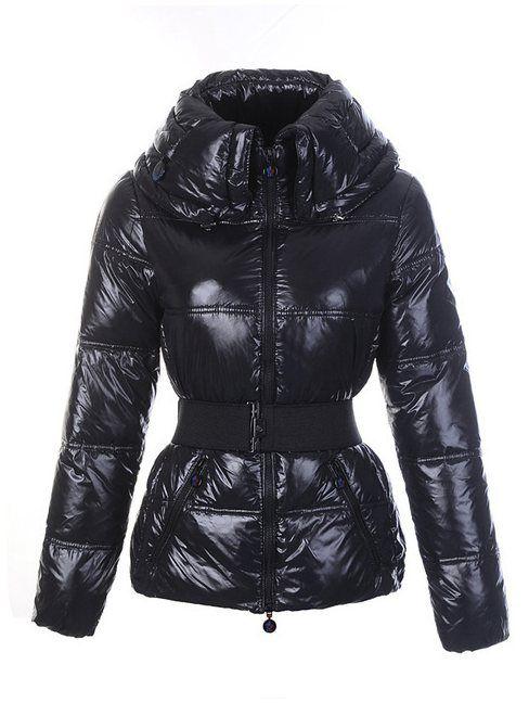 Moncler online shop österreich - Moncler Aliso Down Belted Damen Jacken Schwarz Neue