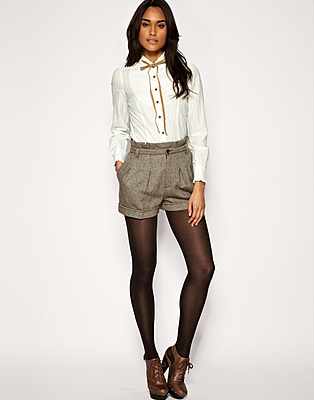 Tweed shorts for winter