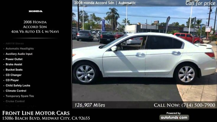Used 2008 Honda Accord Sdn   Front Line Motor Cars, Midway City, CA