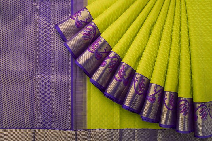 Green with Violet combo saree... Such a pretty color combination
