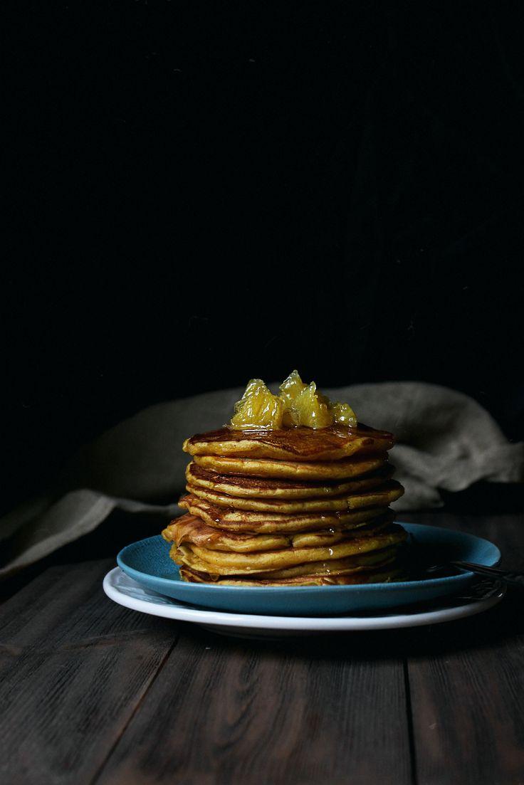тыквенные панкейки с апельсиновым сиропом  #панкейки #тыква #тыквенныепанкейки #pancake #pumpkin
