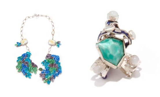 Jewelery by RMIT Univarsity Art student Katherine Brunacci. Left: The Prince of Hamlet. Right: Cordelia. http://www.rmit.edu.au/finevisualart