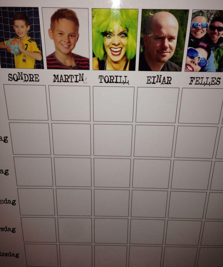 Ukesplanlegger, weekplanner