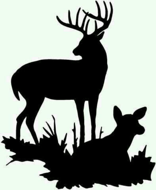 Genius image with deer silhouette printable