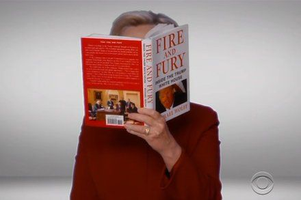 Hillary Clinton Reading Fire and Fury Makes a Grammys Cameo