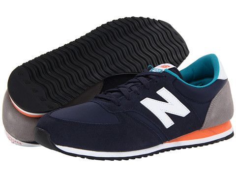 new balance u420 black blue orange