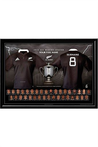Personalised Gifts | Make Unique Gifts Online - Personalised 2012 All Black Jersey Print