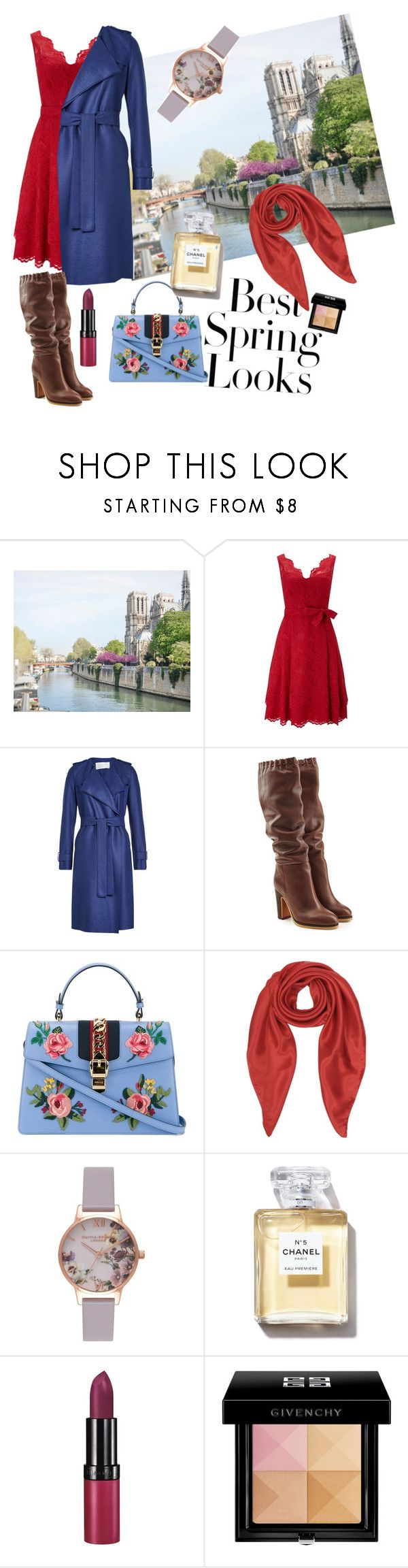 un jour au printemps by feliciamia on Polyvore featuring Phase Eight, Harris Wharf London, See by Chloé, Gucci, Olivia Burton, Forzieri, Givenchy, Rimmel and H&M