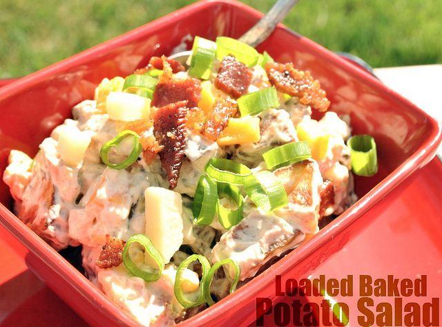 Loaded Baked Potato Salad: Baked Potato Salads, Recipe, Style, D Licious Dishes, Salad Food, Food Side, Salad Side Dishes, Loaded Baked Potatoes, Picnic