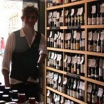 A punter at Cambridge Wine Merchants