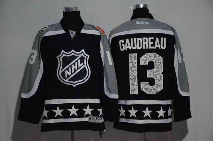 uk availability 48a02 86bc7 calgary flames jersey 13 johnny gaudreau black 2016 all star ...